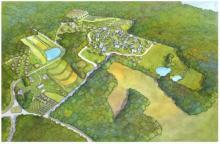 Permaculture rendering of Rocky Corner